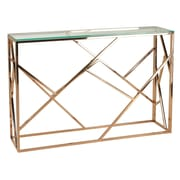 Rosdorf Park Bellegarde Contemporary Glass Console Table