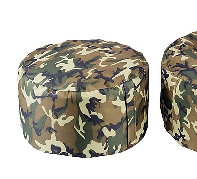 Freeport Park Aurore Durable Camo Ottoman for Freeport Park