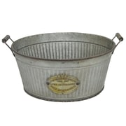 Three Hands Co. Galvanized Metal Pot Planter