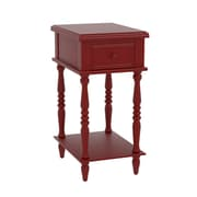 Alcott Hill Christopherso Accent End Table; Red