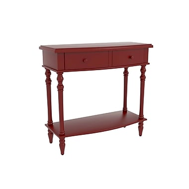Alcott Hill Claflin Accent End Table; Red