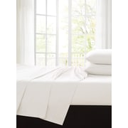 Alcott Hill Ingles 200 Thread Count 100pct Cotton Sheet Set; White