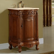 Astoria Grand Alexis 21'' Single Bathroom Vanity Set; Teak