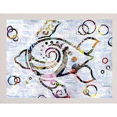 East Urban Home 'Sea Turtle' Graphic Art Print; White Medium Framed
