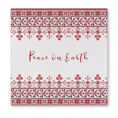 The Holiday Aisle 'Peace on Earth' Graphic Art Print on Canvas