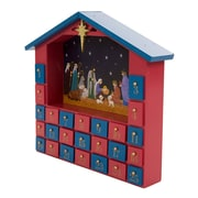 The Holiday Aisle Wooden House Count Down Calendar w/ Drawer