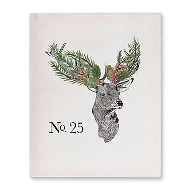 The Holiday Aisle 'Christmas Deer' Graphic Art Print on Canvas