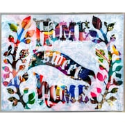 East Urban Home 'Home Sweet Home' Graphic Art Print; Metal Silver Framed