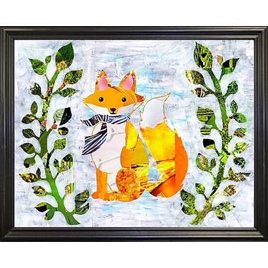 Zoomie Kids 'Fox' Graphic Art Print; Black Grande Framed