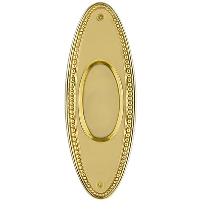 Nostalgic Warehouse Beaded Recessed pull; Unlacquered Brass