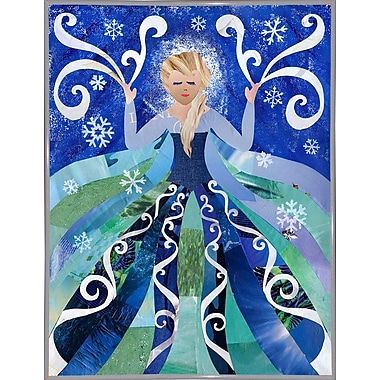 East Urban Home 'Ice Queen' Graphic Art Print; Metal White Framed