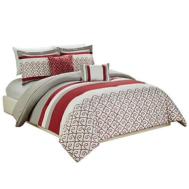 Red Barrel Studio Makale Embroidered 5 Piece Comforter Set; King