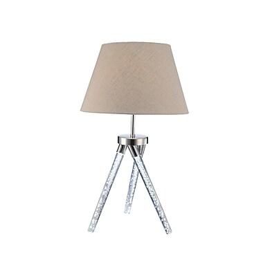 Orren Ellis Denes 30'' Table Lamp; Chrome