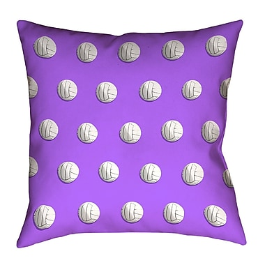 East Urban Home Square Volleyball Throw Pillow w/ Insert; Purple