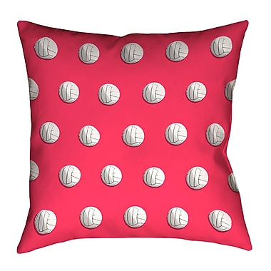 East Urban Home Volleyball Throw Pillow w/ Concealed Zipper; Red