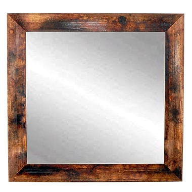 Union Rustic Leanna Rectangle Bathroom Mirror