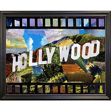 East Urban Home 'Hollywood' Graphic Art Print; Black Grande Framed