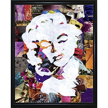 East Urban Home 'Marilyn' Graphic Art Print; Metal Flat Black Framed