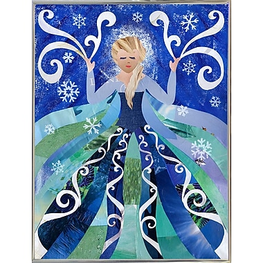 East Urban Home 'Ice Queen' Graphic Art Print; Metal Silver Framed