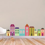 SweetumsWallDecals Little City Color Printed Wall Decal; 22'' H x 69'' W