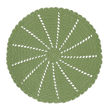 Ophelia & Co. Tito Crochet Round Doily Accessory; Sage