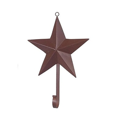 August Grove Osmonde Rustic Iron Star Wall Hook; 3.75'' H x 3.75'' W