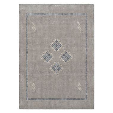 Bungalow Rose Stellan Kilim Gray Area Rug; 2' x 3'