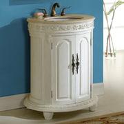 Astoria Grand Willesden 30'' Single Bathroom Vanity Set; Antique White