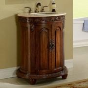 Astoria Grand Willesden 30'' Single Bathroom Vanity Set; Teak