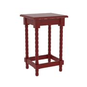 Breakwater Bay Barnard Accent End Table; Red