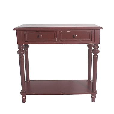 August Grove Cedarvale Accent End Table; Red