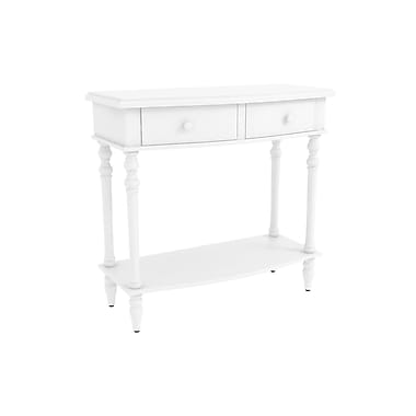 Alcott Hill Claflin Accent End Table; Off White
