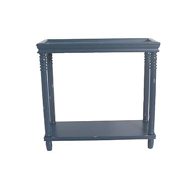 August Grove Cedarton Accent End Table; Blue