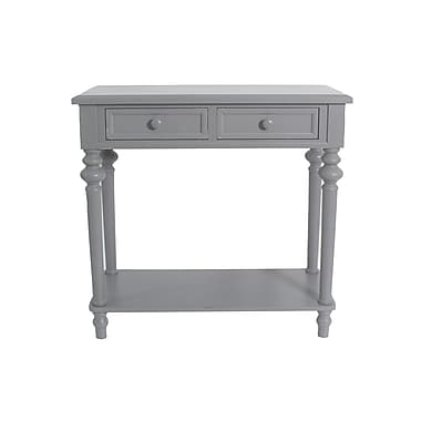 August Grove Cedarvale Accent End Table; Gray