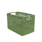 August Grove Chalmers Crochet Wire Basket; Sage