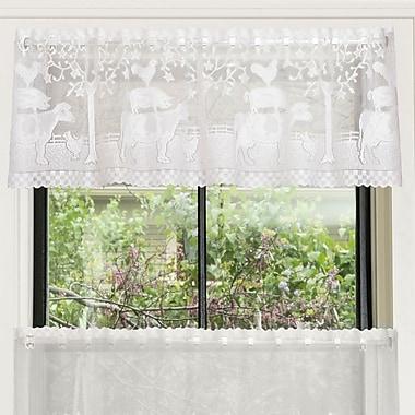 August Grove Chad 60'' Window Valance; White