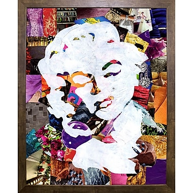 East Urban Home 'Marilyn' Graphic Art Print; Cafe Mocha Framed
