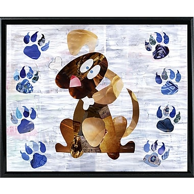 East Urban Home 'Puppy' Graphic Art Print; Metal Black Framed