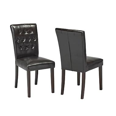 Charlton Home Ohlman Tufted Side Chair; Espresso