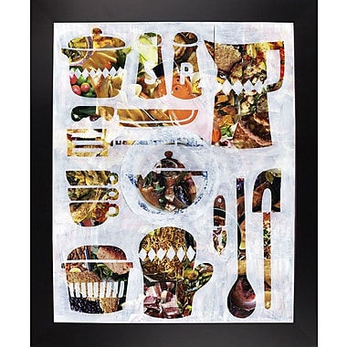 East Urban Home 'Kitchen Collection' Graphic Art Print; Black Large Framed