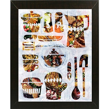 East Urban Home 'Kitchen Collection' Graphic Art Print; Brazilian Walnut Medium Framed