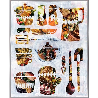 East Urban Home 'Kitchen Collection' Graphic Art Print; Metal White Framed