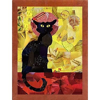 East Urban Home 'Le Chat Noir' Graphic Art Print; Canadian Walnut Medium Framed
