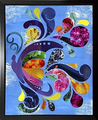 August Grove 'Butterfly' Graphic Art Print; Plastic Black Framed