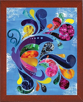 August Grove 'Butterfly' Graphic Art Print; Red Mahogany Medium Framed