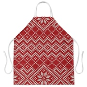 The Holiday Aisle Snowflake Apron; Red