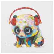 Harriet Bee 'Panda Beats' Painting on Wrapped Canvas
