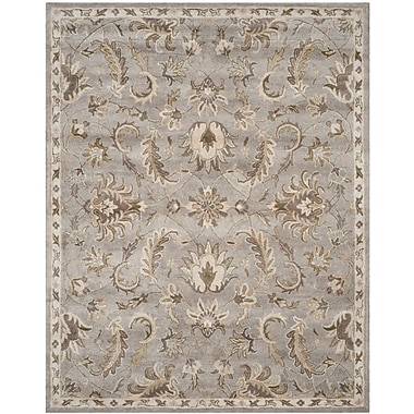 Charlton Home Amundson Hand Tufted Light Gray Area Rug; 4' x 6'
