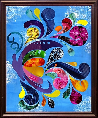 August Grove 'Butterfly' Graphic Art Print; Cherry Grande Framed