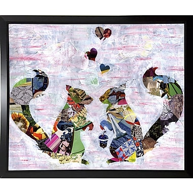 East Urban Home 'Squirrels' Graphic Art Print; Plastic Black Framed